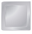 empty silver square frame template for banners or vector image vector image