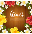 floral card banner poster design beautiful vector image vector image