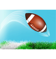 football ball flies over the line vector image vector image