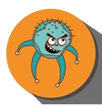 Germs and bacteria cartoon vector image vector image