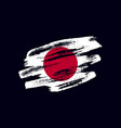 grunge textured japanese flag vector image