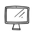 hand drawn monitor cartoon computer screen vector image