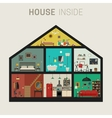 House inside interior vector image