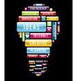 Innovation ideas light bulb vector image vector image