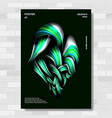 liquid brush poster vibrant gradients vector image vector image