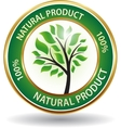 Natural product eco friendly website icon vector image