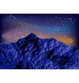 night mountain vector image