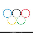 olympic rings icon vector image