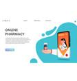 online drugstore healthcare pharmacy concept vector image