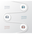 Paper gears infographic 3 vector image