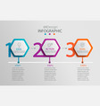 paper infographic template with 3 hexagon options vector image