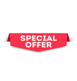 red banner special offer web element vector image vector image