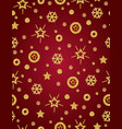 red christmas pattern background with golden vector image vector image