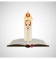 religion catolic virgin mary immaculate haert vector image vector image