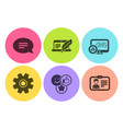 report statistics copyright laptop and like icons vector image vector image