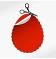 scissors cut egg vector image