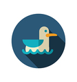 Seagull flat icon Summer Vacation vector image vector image