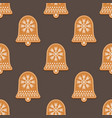 seamless pattern with gingerbread bell vector image vector image
