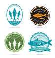 Set of an fish label vector image vector image