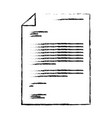 sheet document in black blurred contour vector image