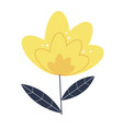 simple icon flower on white background eps10 vector image