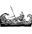 Sinking boat vector image vector image