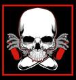 skull painting graffiti hand drawingshirt designs vector image vector image