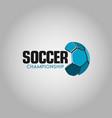 soccer championship logo template design vector image vector image
