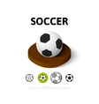 Soccer icon in different style vector image
