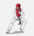 taekwondo martial art vector image