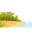 tropical landscape with ocean shore sandy beach vector image vector image