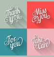 typography design for card in flat style vector image vector image