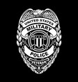 us military police veteran badge vector image vector image
