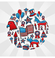 USA elections style icons vector image