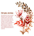 watercolor herbs and flowers drawn image vector image vector image