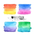 Watercolor textured paint stains colorful set vector image
