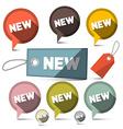 New Sale Labels Set vector image