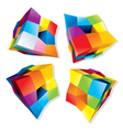 Colored Cube Logos vector image