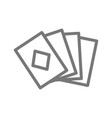 simple playing and game cards line icon symbol vector image