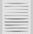 page divider with transparent shadows set of vector image