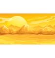 Yellow Sunset Desert Landscape vector image
