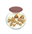 A Jar of Delicious Marinated Termite Mushroom vector image vector image