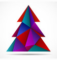 abstract colorful christmas tree of triangles vector image vector image
