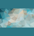 abstract irregular polygonal background turquoise vector image vector image