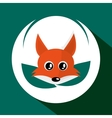 Animal design Fox icon Isolated vector image