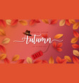 autumn season background for sale promotion vector image