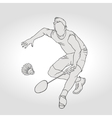Badminton player Hand vector image vector image