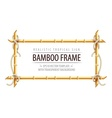 Bamboo frame template for tropical vector image
