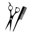 barber shop scissors with comb