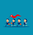 business leader holding red flag concept vector image vector image
